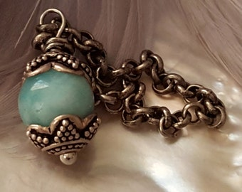 Blue Larimar Pendant sterling silver jewelry interchangable White Dove Jewels Collection