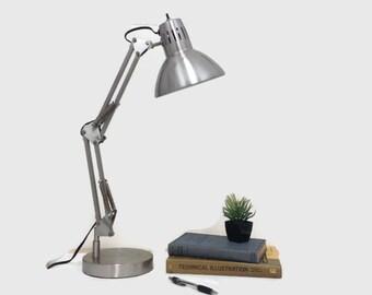 Vintage Architect's Lamp - Industrial - Metal - Adjustable Articulating Arm - Desk Lamp