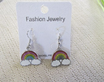 Earrings, Over the Rainbow, dangling, French hook