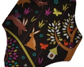 Liner Core- Foxtrot Forest Reusable Cloth Mini Pad- 7.5 Inches (19 cm)