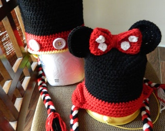 Halloween costume Inspired by Mickey Mouse or Minnie Mouse Photo Prop Winter Hat
