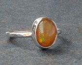 Opal Ring, Ethiopian Opal Ring, Orange Opal Ring, Flashy Opal Ring, One of a Kind, Ready to Ship, US Size 7