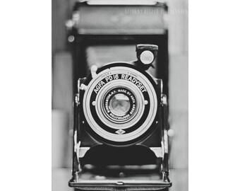 Vintage Camera, Black and White Photography, Photographer, Still Life Photography, Vintage Camera Still Life, VIntage Camera Print, Agfa