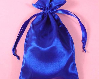 10 3x4 Plain Royal Blue  Satin Bags Great For favors, sachets, beads, jewelry, and more
