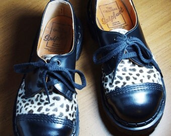 Vintage Gripfast Leather and Pony Hair Oxford Brogues Shoes size UK 4, US W 6