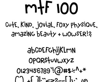 MTF 100 Font