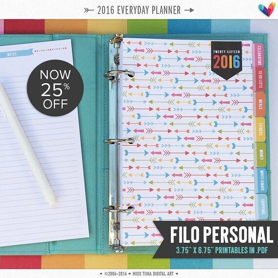 fp 2016 everyday planner pages pdf x by misstiina