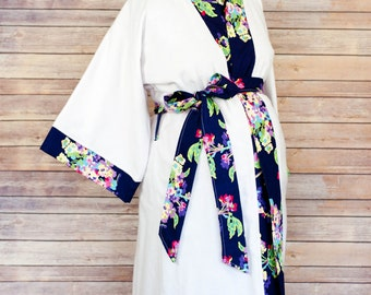 Alli Maternity Kimono Robe - Super Soft Microfleece - Add a Labor and Delivery Gown to Match
