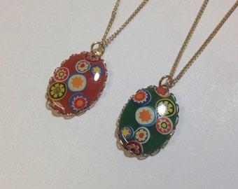 Vintage colorful pendant
