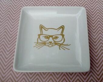 Smart Kitty Appetizer Plates - Set of 4