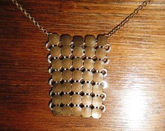 Steampunk/Victorian/Renfair chainmail bronze colored necklace