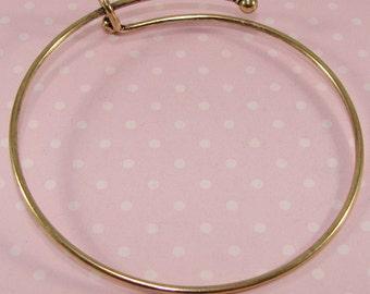 10 Pieces BRONZE Bangle Bracelet Blanks 7 3/4 inch Expandable Bangle Bracelet Bulk Jewelry Making Supplies Add Charms Letter Initials Gems