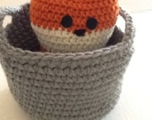 What does the fox say? cute crochet plushy fox for Valentines day