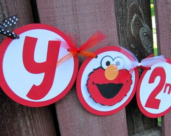 Elmo Party Banner, Elmo Birthday Party, Elmo Happy Birthday Banner, Sesame Street Banner, Elmo Party, Elmo 2nd Birthday, Elmo 1st Birthday