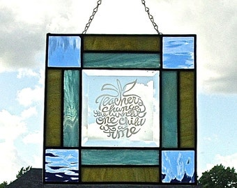 NEW!!!! Etched panel honoring teachers.