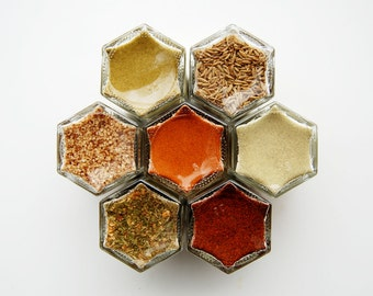 MEXICAN Kit:  Fiesta Time! 7 Organic Spices Inspired by Mexico.  Gift Idea for Foodie.
