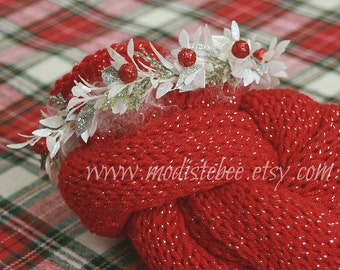 RTS... Christmas Holiday Newborn Wrap and Halo Set... Photography prop