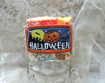 cuff halloween prim rustic textile fabric raw edge rugged