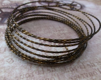free uk postage Beadsmith 18 gauge Twisted Square Wire Vintage Bronze