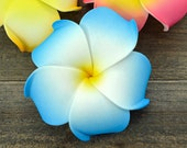 Blue Plumeria Hair Clip, 3 inch, Pink   Flower Clip,    Hair Accessory