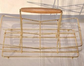 Mid Century Glass Holder Tray