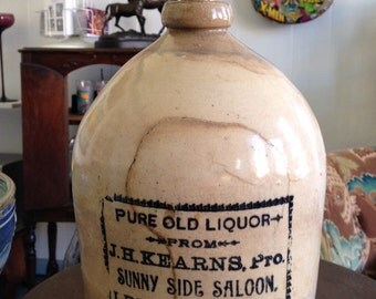 SALE 275.... was 350 Antique 1 Gallon Whisky Jug from Lebanon, KY