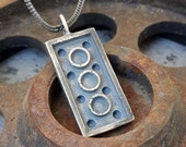 Apocalyptic-Rustic-Silver-2*4-Lego Necklace-Rugged Necklace-Lego Pendant-Apocalyptic Jewelry-Burning Man-Mens Rough Jewelry-Gal Barash-MJ