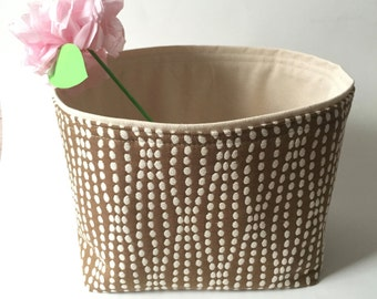 NEW color - mocha // large  textured // fabric storage basket // bin