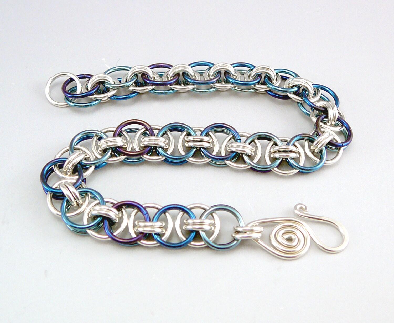 Chain Link Bracelet Hypoallergenic Jewelry Niobium Jewelry