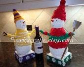 SALE Decorative Snowman  - Table centerpiece, Secret Santa, winter decor on sale