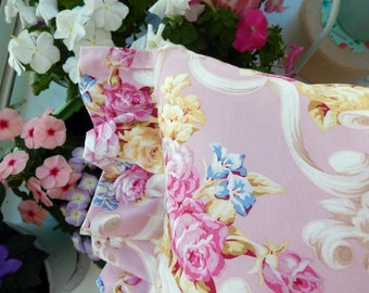 An abundance of pink shabby chic Roses pillow