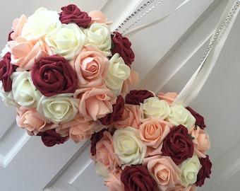 Rhinestone Flower Girl Bouquet Pomander Kissing Ball