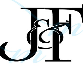 SALE - J VARIATIONS - Intertwining Ampersand Monogram