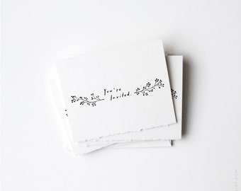 "Lobelia Invitation Set 4""x5"" 