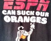 SALE ESPN can suck our Oranges tshirt men grunge punk xl normcore jock sports