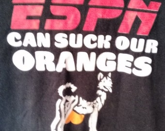 SALE ESPN can suck our Oranges tshirt men grunge punk xl normcore jock sports
