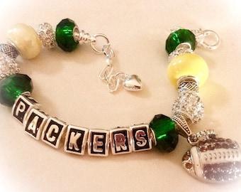 Green Bay Packers Jewelry handmade bracelets