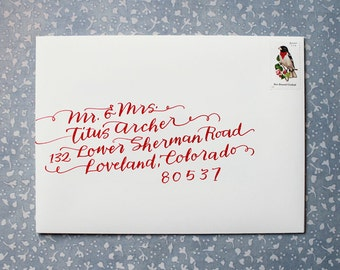 Hand Calligraphy Envelope Addressing // Weddings and Bar Mitzvahs // Patricia Mumau