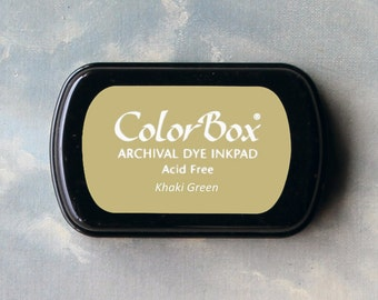 Light Brown Stamp Pad (Khaki Green) // Archival ink // ColorBox