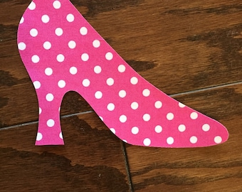 High Heel Shoe Iron On Applique, You Choose Fabric