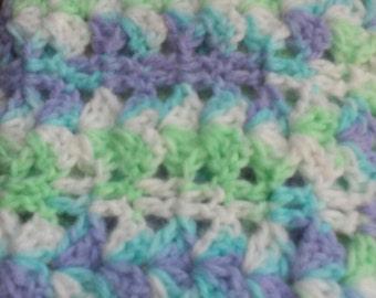 ON SALE....Baby Blanket / Lapghan / Bedding / Pastel Colors