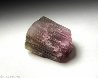 Pink & Green Tourmaline Crystal, Raw Natural Piece // Heart Chakra // Crystal Healing // Mineral Specimen
