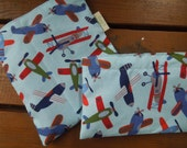 ON SALE ****   Reusable sandwich and/or snack bags - More airplanes - Please read notes