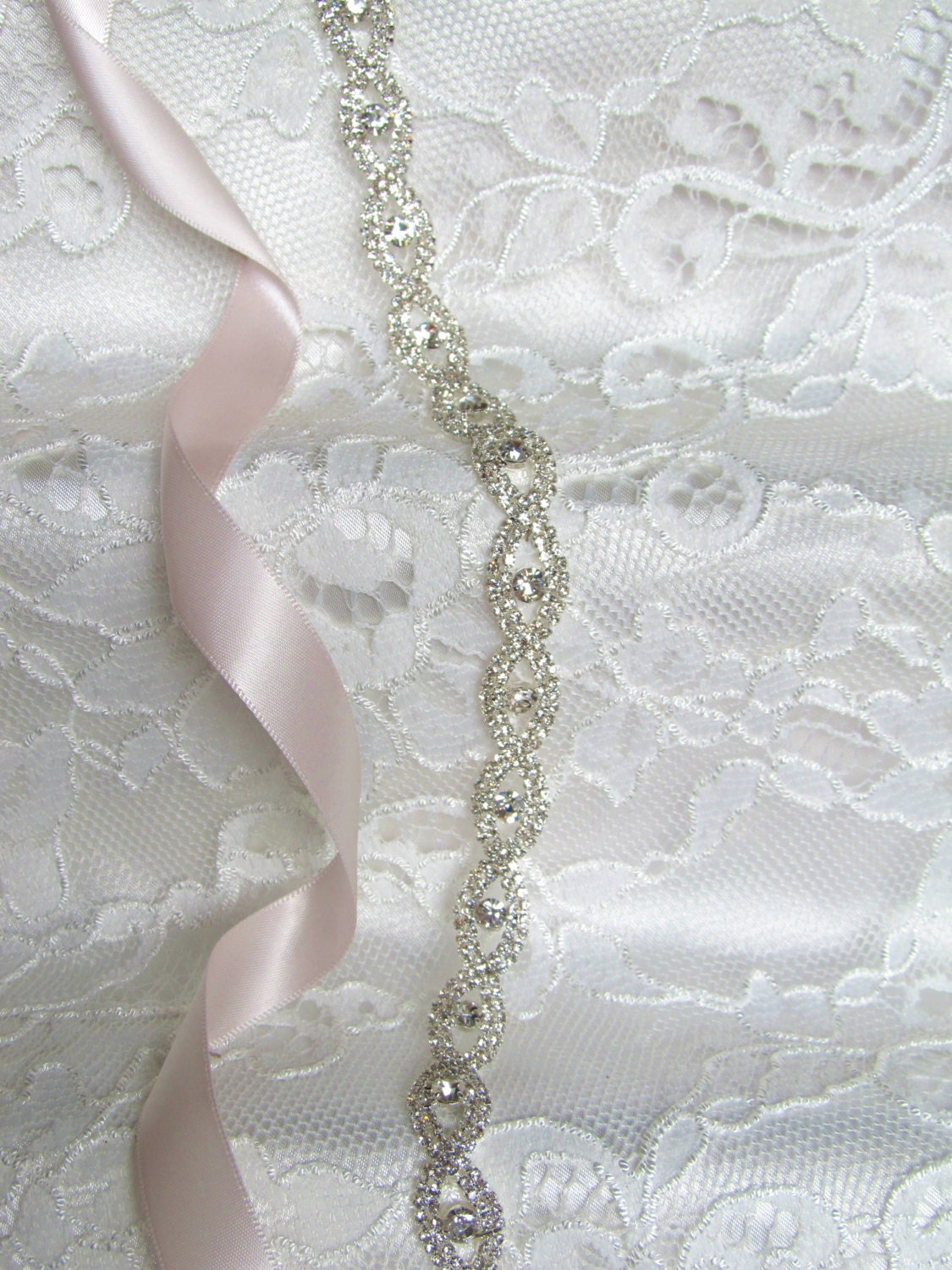 Silver Crystal Rhinestone Bridal Sash,Wedding sash,Belts And Sashes,Bridal Accessories,Bridal Belt and sashes,Ribbon Sash,Style #50