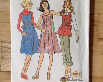 Vintage 70s Tunic and Dress Simplicity 7589  • 15/16