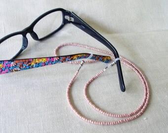 Pink Eyeglass Holder,  Glasses Chain, Eyeglass Lanyard, Eyeware