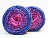 Purple Morning Glory - Hand Dyed Bulky Yarn on Arctic Fox Base Wool & Alpaca