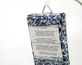 Sonnet 116 Ornament- Miniature Painting on Canvas- Star Charts- White Blue, ACEO- Love Poem- Shakespeare- Romantic, Valentines