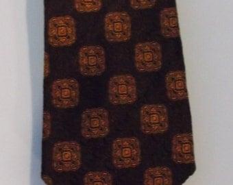 Aristo Craft Brown and Orange Necktie Woven in France