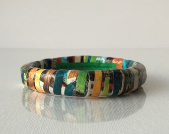 Tamarnido Upcycled Magazine Bangle Bracelet